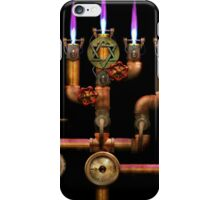Steampunk - Plumbing - Lighting the Menorah iPhone Case/Skin