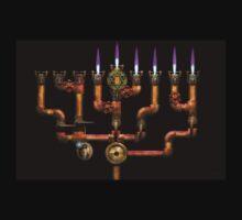 Steampunk - Plumbing - Lighting the Menorah T-Shirt
