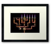 Steampunk - Plumbing - Lighting the Menorah Framed Print
