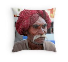 Indian in Jaipur Throw Pillow