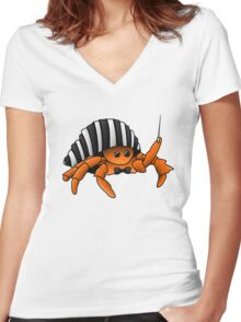 """Julian The Conductor? Oo"""" Women's Fitted V-Neck T-Shirt"""