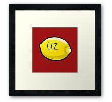 Liz Lemon the Lemon Framed Print