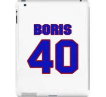 National baseball player Paul Boris jersey 40 iPad Case/Skin
