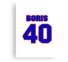 National baseball player Paul Boris jersey 40 Canvas Print