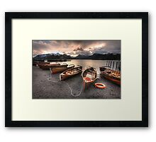 Derwent Water Boats Framed Print
