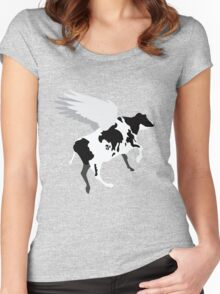 Browser the Flying Cow Women's Fitted Scoop T-Shirt