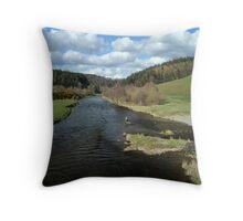 Tweed View at Manor Brig Throw Pillow