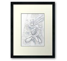 Batman Dark Knight Lightning Design Framed Print