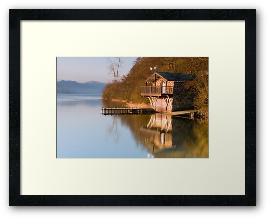 Ullswater Boathouse at Dawn by Steven  Lee