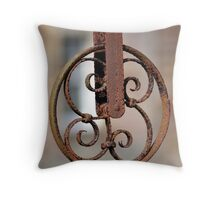 Rusty Pulley Throw Pillow