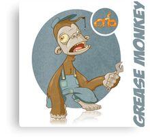 Grease Monkey Canvas Print