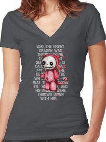 Devil Doll Women's Fitted V-Neck T-Shirt