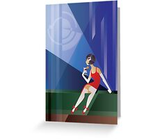 Art Deco Lady with cocktail Greeting Card