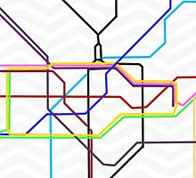 London Subway Map  by fitzstar