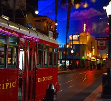 Red Car Trolley by Andrew Luna