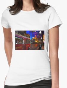 Red Car Trolley Womens Fitted T-Shirt