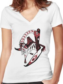 Haida Azhdarchid Women's Fitted V-Neck T-Shirt