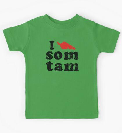 I Chili (Heart) Som Tam [Vintage] ★ Thai Isan Lao Food ★ Kids Tee