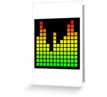Audio Spectrum Bars Greeting Card