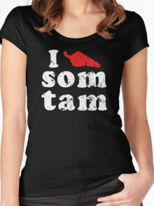 I Chili (Heart) Som Tam [Vintage] ★ Thai Isan Lao Food ★ Women's Fitted Scoop T-Shirt