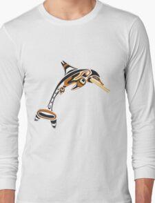 Kwakwaka'wakw ichthyosaur Long Sleeve T-Shirt