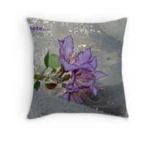 wet orchid Throw Pillow