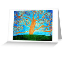 tree of vision Greeting Card