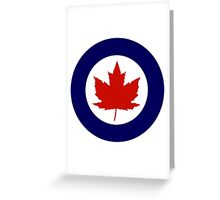 Roundel of the Royal Canadian Air Force, 1924-1968 Greeting Card