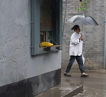"A rainy day - Hu-tong, ""telephone booth"" by maka1967"