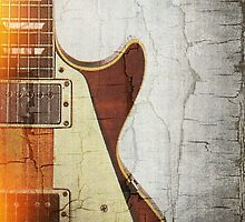 Guitar Vibe 1- Single Cut '59 by Roz Abellera Art Gallery