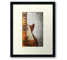 Guitar Vibe 1- Single Cut '59 Framed Print