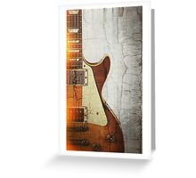 Guitar Vibe 1- Single Cut '59 Greeting Card