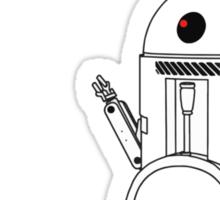 Fembot meets Urinal Bot ! Sticker