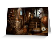 Steampunk - Tool room of a mad man Greeting Card