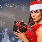 Sexy Santa's Helpers Holiday postcard Wallpaper Template by Anton Oparin