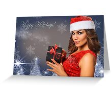 Sexy Santa's Helpers Holiday postcard Wallpaper Template Greeting Card