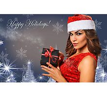 Sexy Santa's Helpers Holiday postcard Wallpaper Template Photographic Print