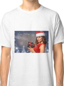 Sexy Santa's Helpers Holiday postcard Wallpaper Template Classic T-Shirt
