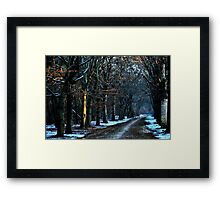 The first touch of the morning sun Framed Print