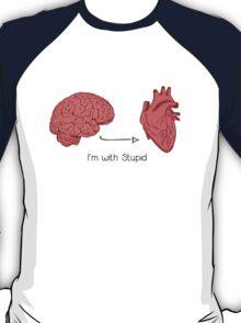 I'm with stupid print T-Shirt