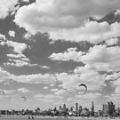 Melbourne Kite Surfers by John Violet