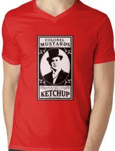 Colonel Mustard's Fancy Ketchup Mens V-Neck T-Shirt