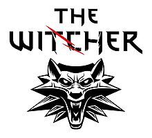 The Witcher Wolf Symbol and text by DCornel