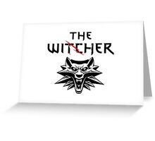 The Witcher Wolf Symbol and text Greeting Card