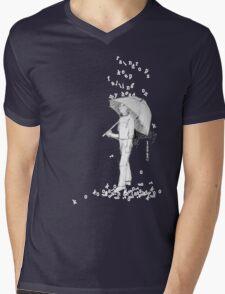 Raindrops Mens V-Neck T-Shirt