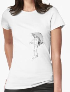 Raindrops Womens Fitted T-Shirt