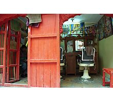 Barber waits Photographic Print