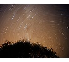 1:30am Star trail night photography Photographic Print