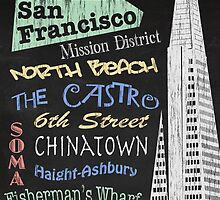 San Francisco Tourism Poster by FinlayMcNevin