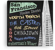 San Francisco Tourism Poster Canvas Print